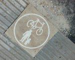 shared use symbol outside Duke of Yorks cinema Brighton