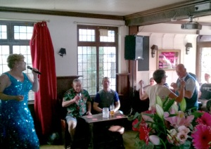 Entertainment and dancing in the Rose Hill Tavern