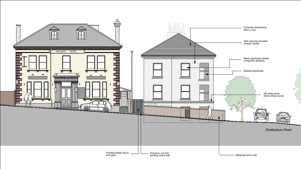 The Signalman – Flats proposed in place of beer garden